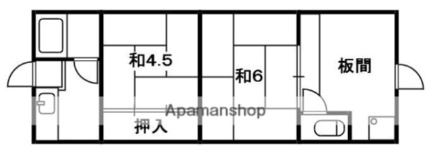 上田住宅[6号室]の間取り