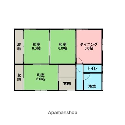 諸井橋平家[2号室]の間取り