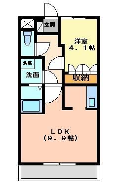 プランドール・コート[1階]の間取り