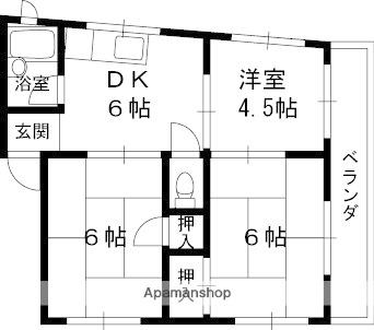 アドバンス香里[4階]の間取り