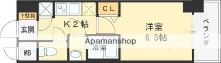 レジュールアッシュ京橋CROSS[402号室]の間取り