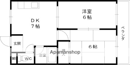 JOマンション[3階]の間取り