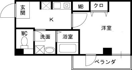 IF西梅田[703号室]の間取り
