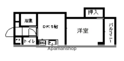 ロイヤルハイツ菅原[413号室]の間取り