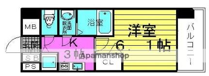 プレサンス梅田北ザ・ライブ[809号室]の間取り