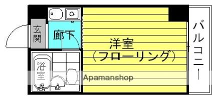 レアレア梅田6番館[3E号室]の間取り