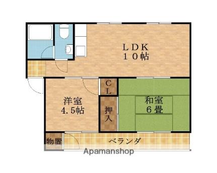 東田マンション[A-1号室]の間取り