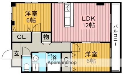 前川マンション3番館[303号室]の間取り