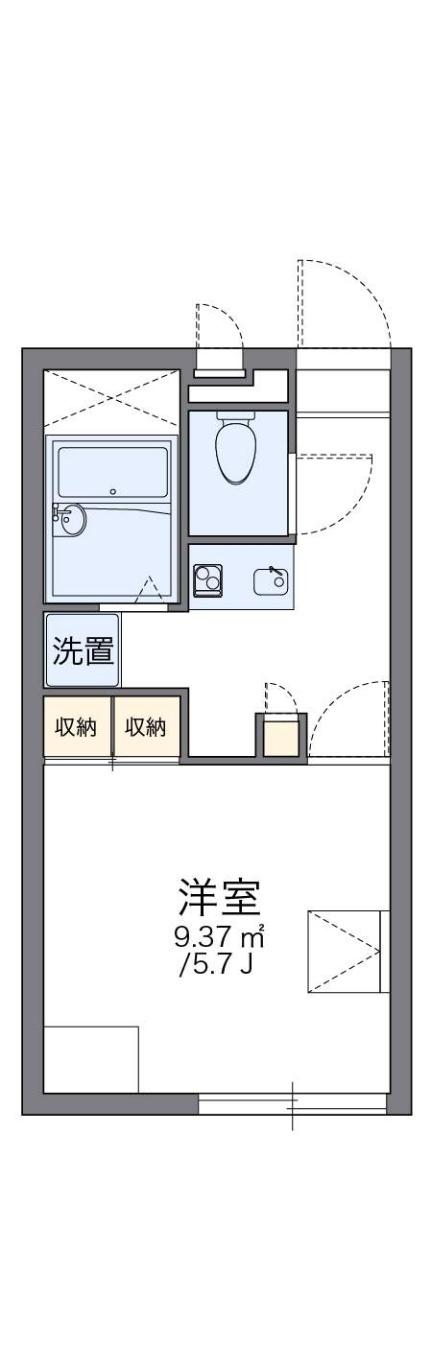 レオパレスフラワーヒル Ⅱ[2階]の間取り