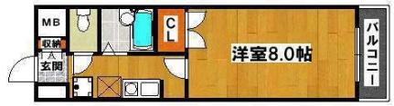 ヒストリカル堺[607号室]の間取り