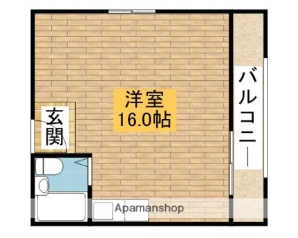 ハイツ富士[401号室]の間取り
