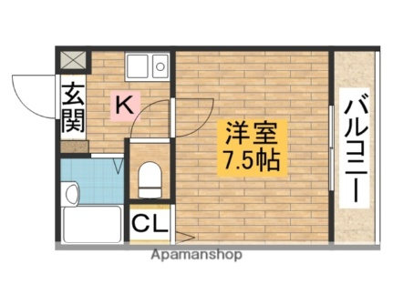 ソアーヴェ堺東[502号室]の間取り