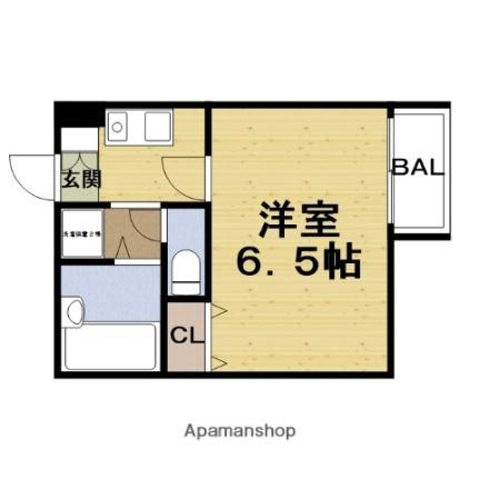 レバンガ桜ノ宮アパートメント[203号室]の間取り