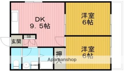 [テラスハウス] 大阪府豊中市上野西2丁目 の賃貸【大阪府 / 豊中市】の間取り