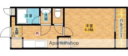 大阪府和泉市桑原町の賃貸アパートの間取り