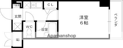エステムコート芦屋西[2階]の間取り