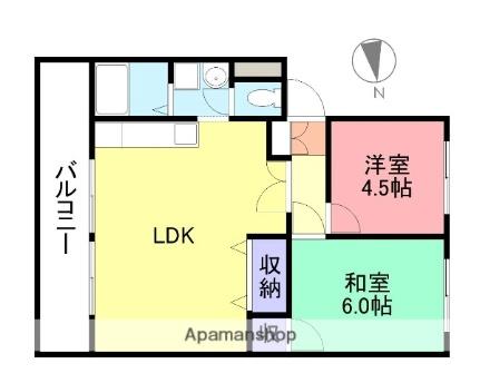 さくらマンション[206号室]の間取り