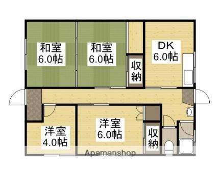 松浜マンション[105号室]の間取り
