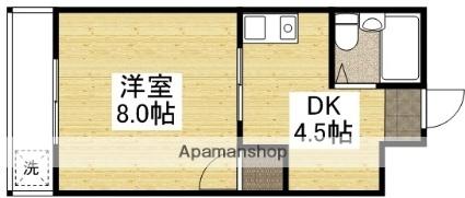 第三鶴身ビル[205号室]の間取り