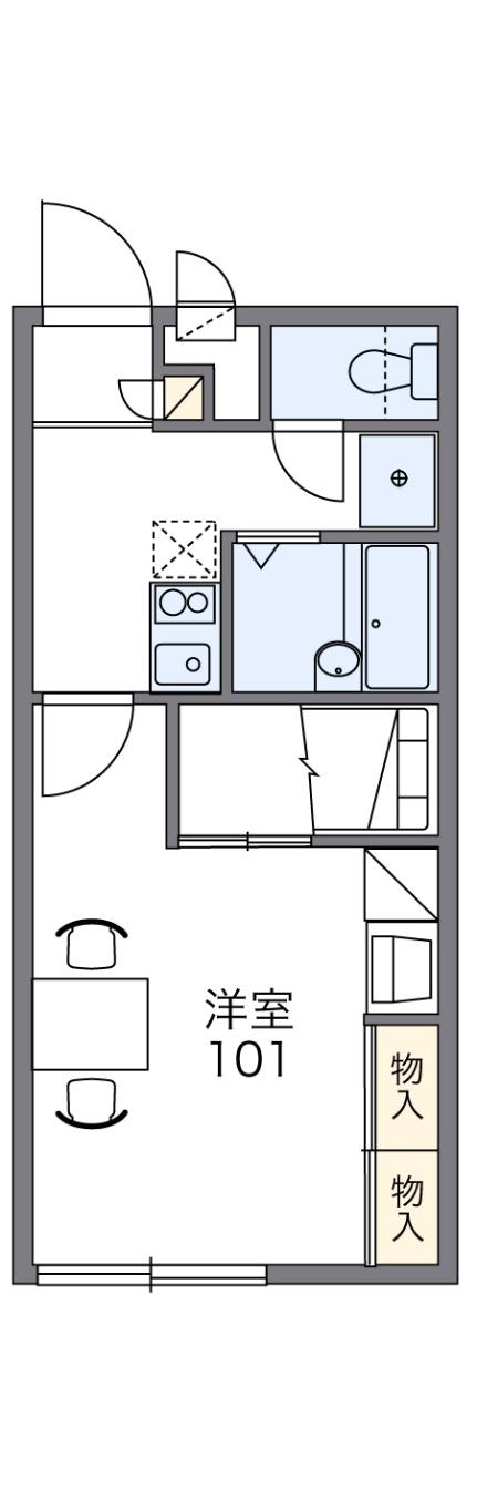 レオパレスTUKIJI[2階]の間取り