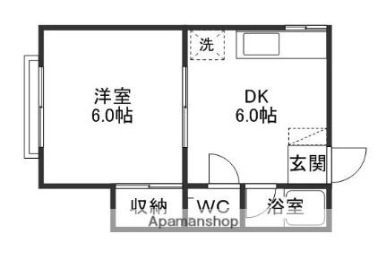 堀川コーポ[201号室]の間取り