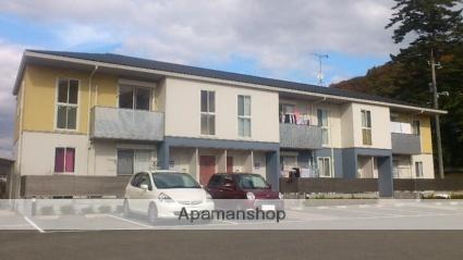 広島県福山市神辺町字箱田の賃貸アパートの外観