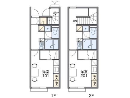 レオパレスKAMON Ⅵ[1階]の間取り