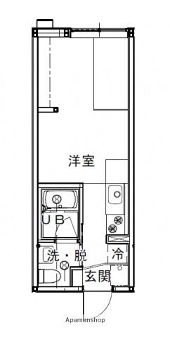 広島県広島市西区竜王町の賃貸アパートの間取り