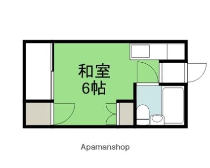 広島県広島市西区井口1丁目の賃貸アパートの間取り