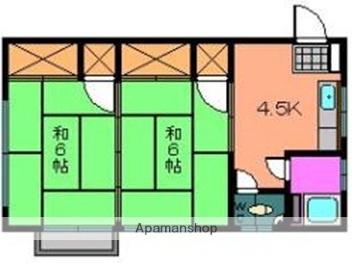広島県広島市西区楠木町3丁目の賃貸マンションの間取り