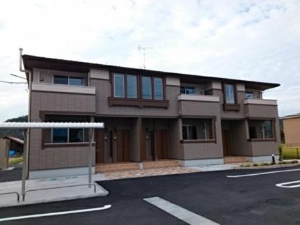広島県安芸高田市吉田町山手の賃貸アパートの外観