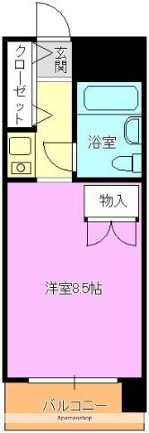 徳山駅前スカイマンション[408号室]の間取り