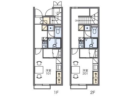 レオパレスコンフォート藍住[2階]の間取り