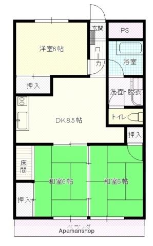 パールハイツ(川島町)[103号室]の間取り