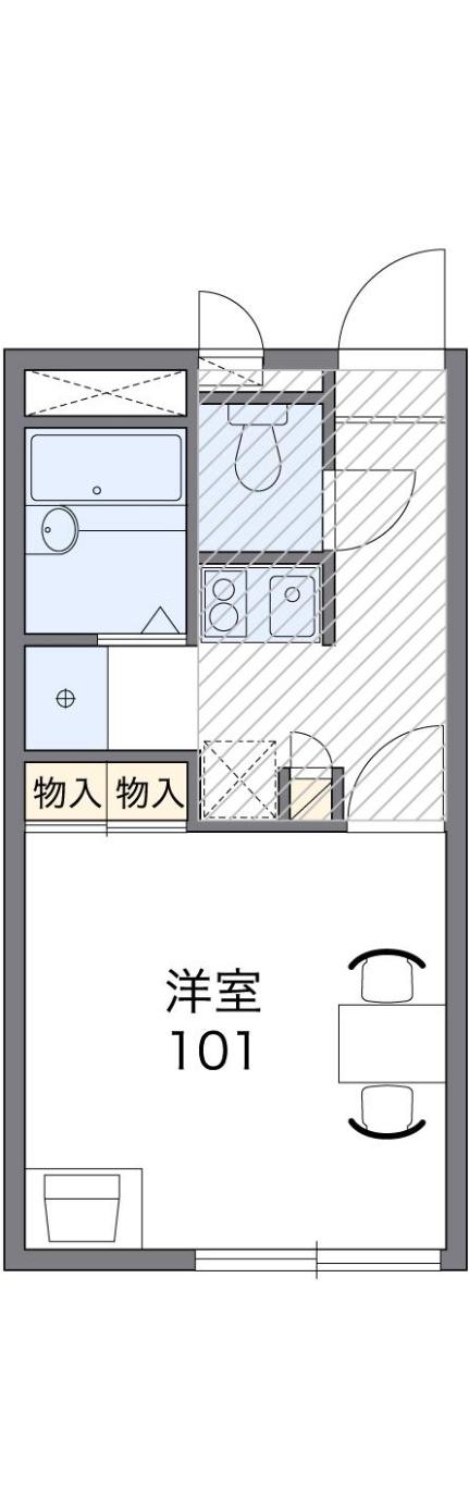 レオパレスアルプル[1階]の間取り