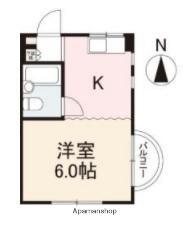 番町田村館[201号室]の間取り