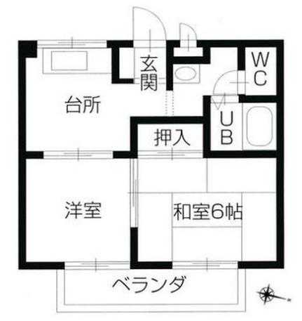 フォブール雅II[2階]の間取り