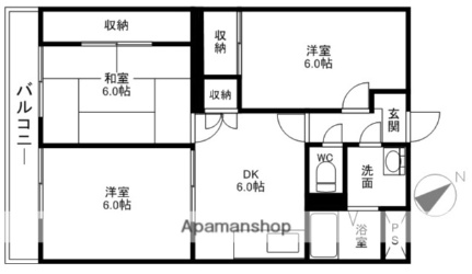 石川勉マンション[125号室]の間取り