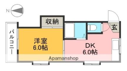 コーポYOKOYAMA[305号室]の間取り