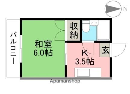 桜井コーポ[301号室]の間取り