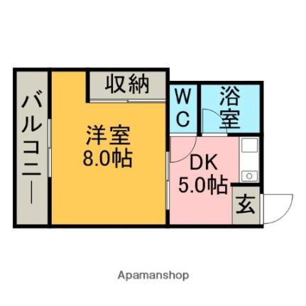 東林寺コーポ[402号室]の間取り