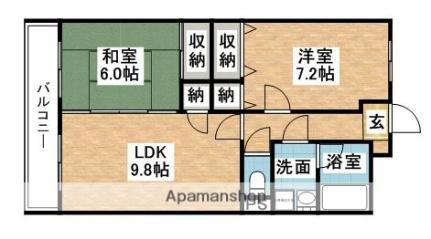 グリーンハイツ須惠[3階]の間取り
