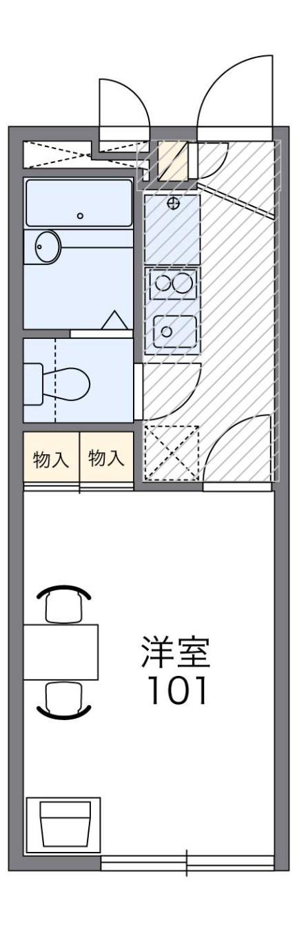 レオパレス富士見[1階]の間取り