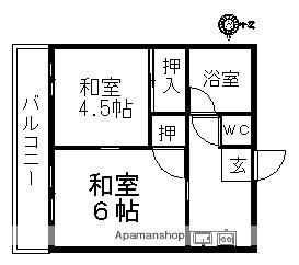 第3清家ビル[302号室]の間取り