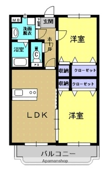 フェニックスマンション[A303号室]の間取り