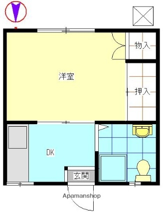 新井コーポ[303号室]の間取り