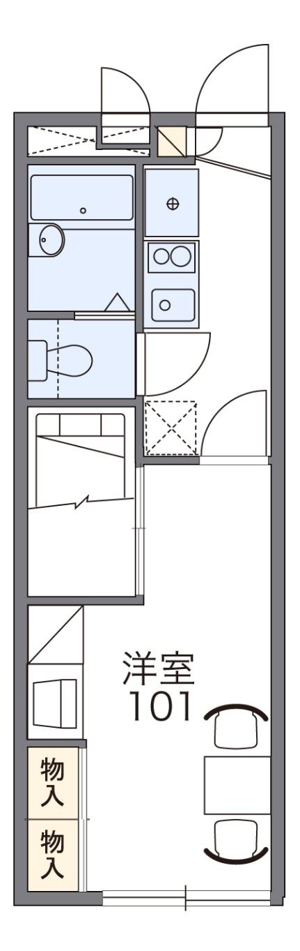 レオパレスパークハイム芝[2階]の間取り