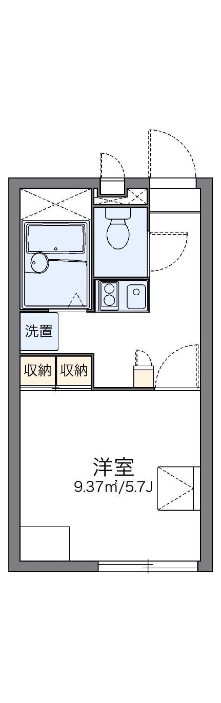 レオパレス源藤Ⅲ[1階]の間取り