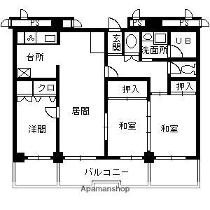 ストークマンション[4階]の間取り