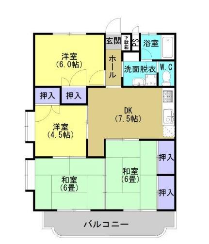 サンハイム飯田[301号室]の間取り